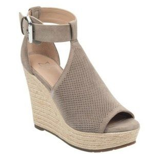 Marc Fisher Allison Espadrille Wedge 7.5 Taupe
